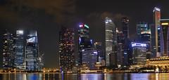 Singapore finance world buildings!  G6 Panorama (Swiss.piton (B H & S C)) Tags: world panorama buildings singapore panoramic cityatnight marinabay m43 shotforfun justmeandmycamera travelerphotos architecturedirectory ibringmycameraeverywhere panasoniclumixlovers singaporemarinabayhotel m43photography panasoniclumixg6photography ilovemym43 dmcg6lumix bigsmall 2x1panoramastitching singaporefinanceworldbuildingsatnight