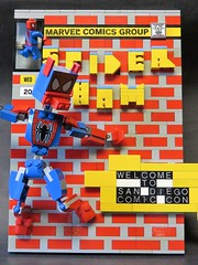 Spider Ham Comic Brick (monsterbrick) Tags: comics pig comic lego spiderman spidey marvel moc spiderham comicbrick