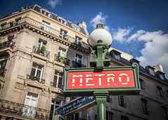 Metro Station (dslaviero81) Tags: city travel sunset sky david paris france building tower church station architecture digital canon lens photography europe cathedral metro eiffel notredame 5d fullframe parisian vitral 24105 llens slaviero 25105mm 5dmarkii 5dmk2 5dmark2