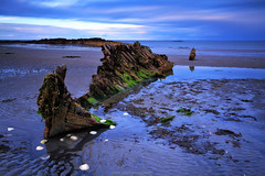 Portavogie Wreck (Gerard Joseph Christopher) Tags: ireland irish celtic portavogie county down boat wreck rotted remains long exposure shells scallop abandoned