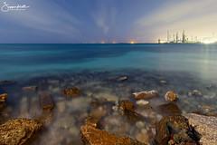 Rogers Beach Aruba (elginz) Tags: aruba sannicolas serocolorado colony nightphotography lightpainting seascape rocks longexposure night horizon refinery canoneos6d canon 6d