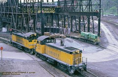 .(SEE & HEAR)---CBL 128-127 Johnstown, PA. 5-07-91 (jackdk) Tags: train industrial locomotive bethlehem johnstown narrowgauge bethlehemsteel sw9 switcher steelmill emd sw1500 nw2 cbl seehear industriallocomotive emdnw2 seeandhear conemaughandblacklick johnstownsteel