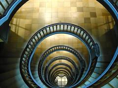 My first one (Elbmaedchen) Tags: spirals hamburg staircase inside 2008 escaleras spirale escaliers kontorhaus treppenauge mesberghof
