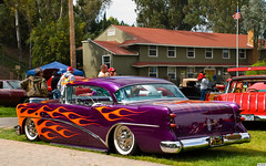 1954 Buick Special HT - mod - purple with orange flames - rvl (Pat Durkin OC) Tags: 1954buick special hardtop custom flames