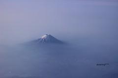 Mt.FUJI (ainaring***) Tags: blue sky mountain japan canon mountfuji journey  fujisan