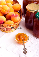 Apricot jam (manyakotic) Tags: apricot conserve dessert food fruit glass health homemade jam jar jelly marmalade preserves snack spoon summer sweet syrup vitamines