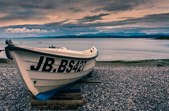 JB at Moeflre, Anglesey (Kelly's Eye Pics) Tags: boat shale seaside moored anglesey moelfre wales pentaxk5ii da 1685 shingle evening