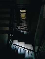 MAD. (pixelops) Tags: stairs down madness black grain grey xperiaz3 z3 phonegraphy phone architure architecture sony tags drone aesthetic sthetic vscospain vscocam vsco perspective vaporwave spiral