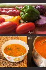 Vegetable soup (IngeHG) Tags: home kitchen vegetables belgium explore beforeafter vegetablesoup explored