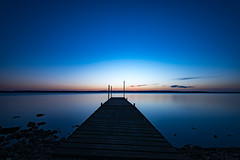 Simple blue morning (jarnasen) Tags: longexposure morning sky copyright lake nature clouds sunrise landscape dawn twilight nikon rocks sweden outdoor pov jetty horizon perspective explore le sverige stergtland ndfilter tvrskogsudde lakescape explored d810 leefilters nd10 ekngen nordiclandscape bigstopper 1635mmf4 jarnasen jrnsen