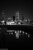 City and the Marina... (EHA73) Tags: leica nightphotography blackandwhite bw skyline marina cityscape towers kuwait sharq souksharq leicamm kipcotower aposummicronm1250asph sharqcity typ246