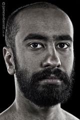 Abdallah Al Dossary - Musician, London UK / Saudi Arabia (2016) (james m barrett) Tags: harshbeautiful male intense portrait desaturated beard handsome cub staracademy5 saudi