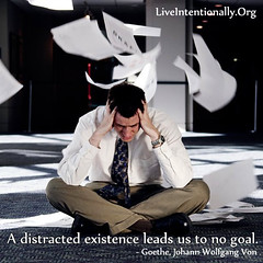 quote-liveintentionally-a-distracted-existence-leads-us (pdstein007) Tags: inspiration quote carpediem inspirationalquote liveintentionally