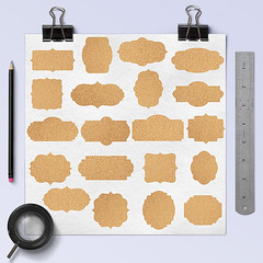 Cork Frames Clipart (northseastudio) Tags: frames tags clipart etsy