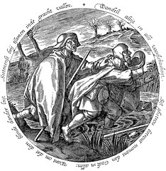 If a blind man leads another, they both fall together into the ditch. (petrus.agricola) Tags: twelve proverbs flemish dutch after pieter bruegel elder etching probably hieronymus wierix jeronymus