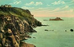 Lands End (mgjefferies) Tags: england cornwall penzance landsend postcard 1911 hotel