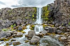 Oxararfoss xarrfoss (Einar Schioth) Tags: summer sky cliff cloud nature water rock clouds canon river landscape photo waterfall iceland rocks day outdoor ngc picture canyon thingvellir ingvellir sland nationalgeographic xarrfoss oxararfoss einarschioth