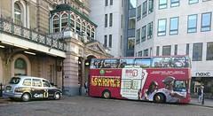 nowt like a bit of self promotion (boysnips) Tags: plaxton londonbus opentopbus bigredbustour londonblackcab lti taxi london londonicon tx2 charingcross