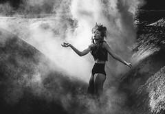 Paint it black (David Pinzer) Tags: people portrait girl fashion drama monochrome smoke mystic mystical dark