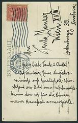 Archiv G850 Neujahrsgre aus Amsterdam (back), 29. Dezember 1913 (Hans-Michael Tappen) Tags: archivhansmichaeltappen amsterdam holland niederlande netherland stamps poststempel briefmarke handschrift text karte photopostkarte 1913 1910er 1910s