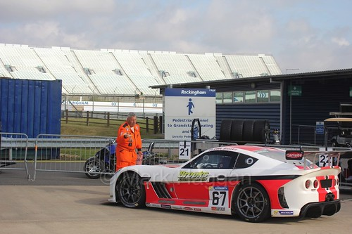 David Brooks in the Ginetta GT4 Supercup at Rockingham, August 2016