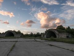 Sunset (jptoivon) Tags: 2016 estonia kes ridala viro airfield airport shelter sovie union cccp red army airforce cold war concrete cloud sunset leica dlux summer