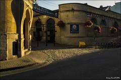 Morning light at St Nicholas Market (zolaczakl ( 2 million views, thanks everyone)) Tags: bristol earlymorninglight earlymorning stnicholasmarket bicycle hangingbaskets buildings oldcity august 2016 nikond7100 sigma1835mmf18dchsmlens uk england goldenlight southwest photographybyjeremyfennell