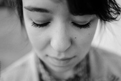 Christine (Anton Zabermach) Tags: nikonfe2 nikkor 50mmf18ai 35mm analog bw blackandwhite ilford fp4 dof bokeh portrait selfdeveloped microphen