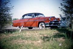 1954 Mercury Monterey (rich701) Tags: vintage 35mm color 1950s langhorne pa pennsylvania carclub automobileclub 1954mercury bthriftyfoods texaco youcantrustyourcar