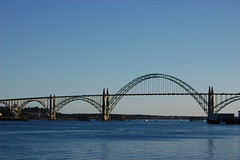 Yaquina Bay Bridge (laurelpattee) Tags: bay yaquina newport sky