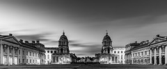 Cloudy Morning - Old Royal Naval College (Aleem Yousaf) Tags: cloudy morning old royal naval college greenwich south east london photo walk long exposure architecture building university 1835mm nikon ilobsterit d800 sky clouds monochrome blackandwhite