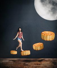 66/365 Mid Autumn (itskatrinayu) Tags: mooncake moon conceptual manipulation midautumn festival self portrait 365 project
