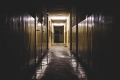 One Way Left (Lucas/mmetry) Tags: lucasymmetry grain grainisgood dark darkness shadows one way left lights night nightlights scared cinematic dslr digital digitalphotography canon indoor emptyness silence tunnel
