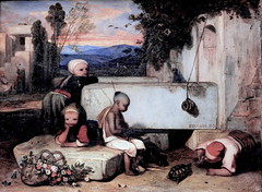 IMG_4094A Alexandre Decamps. 1803-1860. Paris. Enfants Turcs jouant avec une tortue. Turks children playing with a turtle. 1836.  Chantilly. Muse Cond. (jean louis mazieres) Tags: peintres peintures painting muse museum museo alexandredecamps