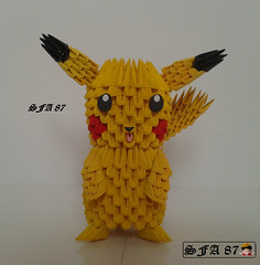 Pikachu Pokemon Origami 3d (Samuel Sfa87) Tags: anime japan paper 3d origami starter crafts craft s sfa pikachu pokemon ash block papel pokémon papercraft ketchum blockfolding origami3d sfaorigami sfa87
