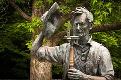 Lincoln the Surveyor (david_law44) Tags: park new illinois state abraham lincoln salem surveyor