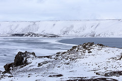 Lac Kleifarvatn. Iceland (Montse.P) Tags: white ice iceland blanc gel hielo kleifarvatn