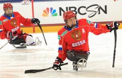 Buffalo 2015 IPC Ice Sledge Hockey World Championships Russia vs Italy (Paralympic) Tags: ny buffalo ita rus russiavitaly