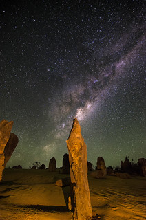 Milky Way Rising above the Pinnacles, Western Australia