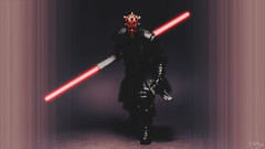 Enter, Darth Maul (3rd-Rate Photography) Tags: canon toy actionfigure 50mm starwars florida figure scifi jacksonville lightsaber 365 darthmaul toyphotography blackseries 5dmarkiii earlware revengeofthe5th 3rdratephotography
