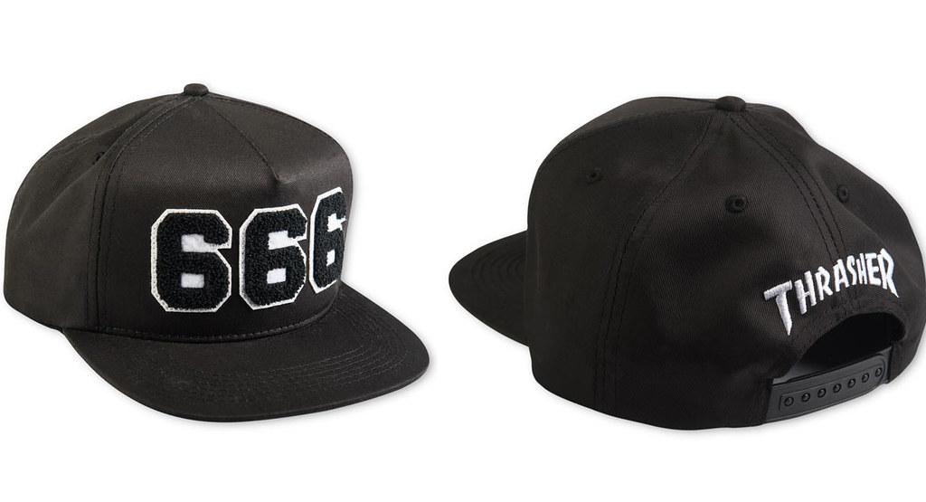 Thrasher 666 Hat (oldskullskateboards.com) Tags  new hat price magazine  back skateboarding 3fdc80ad2762