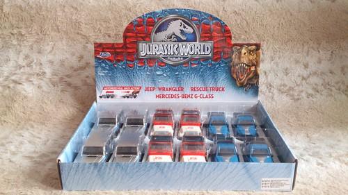Jurassic World 2015 Movie Rescue Truck 1:43 Pull Back Diecast Jada Toys Blue