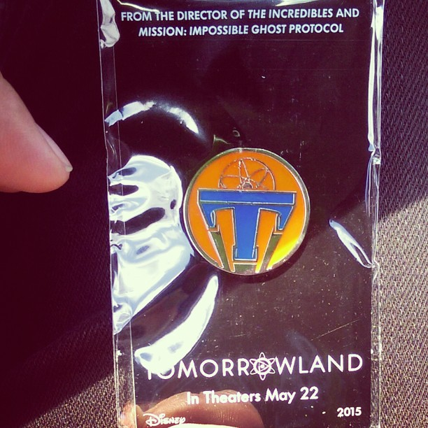Just saw #tomorrowland and it was a #fun #movie #imaginative thanks @regalmovies for the #awesome #collector #pin for seeing it #today