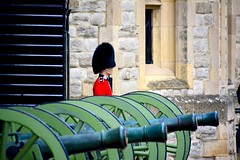 England 2016  The Tower of London  Soldier and cannons (Michiel2005) Tags: uk greatbritain england london tower soldier unitedkingdom britain guard cannon kanon toweroflondon engeland londen soldaat thetower vk thetoweroflondon grootbrittanni verenigdkoninkrijk