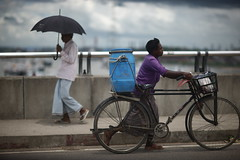 Street Photography : My Style (N A Y E E M) Tags: bicycle pedestrian umbrella bridge karnaphuli river street chittagong bangladesh sooc raw unedited untouched explored