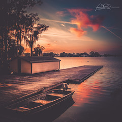 Kraft Azalea (AmaurieRaz) Tags: canon canonphotography sunset winterpark centralflorida travel square squareformat project photography clouds pink reflection park lake dusk
