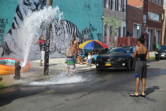 IMG_4359 (Mud Boy) Tags: nyc newyork brooklyn bushwick summer streetscene hydrant graffiti firehydrant streetart