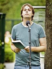 Jonathan Griffioen op het theeveld