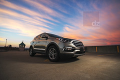 Sunrise Santa Fe (Day Vid Z / ASCENSION Photography) Tags: car vehicle suv sunrise epic speed race hyundai canada thunderbay ontario summer morning dawn early hdr colorful portrait professional product promo drive driven automoblie auto shiney shine reflection clouds sky vivid awesome