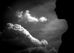 When we dream .... (dockerm) Tags: face clouds blackwhite gesicht dream wolken frau traum